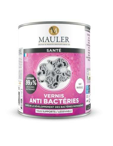 Antibactérien : Vernis multisupports