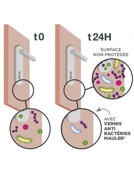 Fonctionnement vernis anti bactérie Mauler