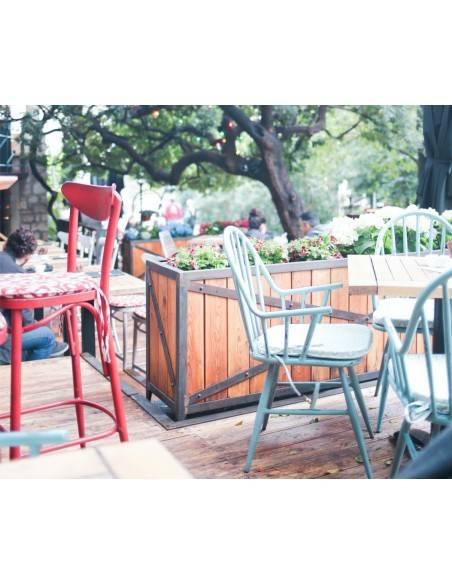 Peinture bois extérieur Coloration Facile 1919 BY MAULER sur chaise et table en bois