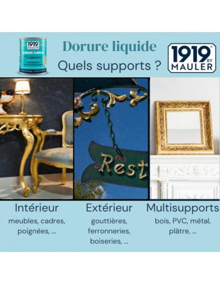 Peinture dorée, dorure liquide Or Princesse 1919 BY MAULER - supports