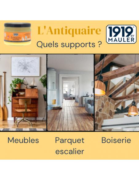 """Cire en pâte """"L'Antiquaire"""" 1919 By MAULER supports"""