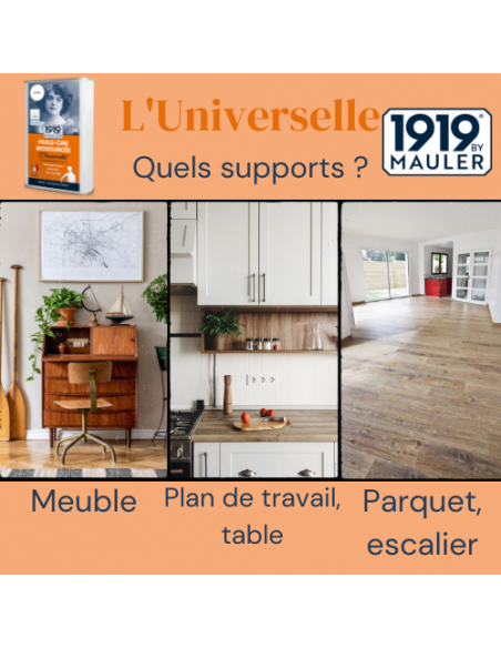 """Huile Cire 1919 BY MAULER """"L'Universelle"""" Supports"""