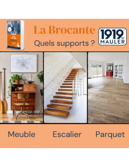 Lait de cire cire liquide La Brocante 1919 BY MAULER supports