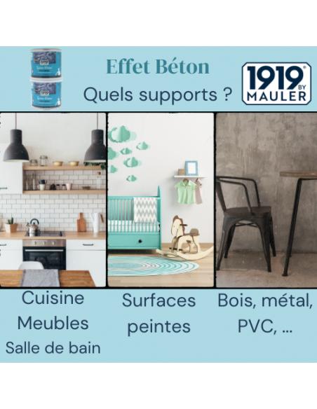 """Peinture effet béton """"Laisse Béton"""" 1919 BY MAULER supports"""