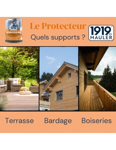 "Saturateur bois ""Le Protecteur Terrasse & Bardage"" 1919 BY MAULER - Supports"