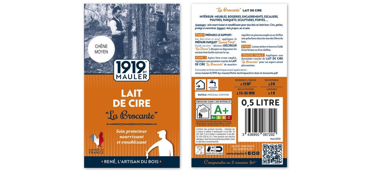 Cire liquide bois Lait de cire 1919 BY MAULER ETIQUETTE