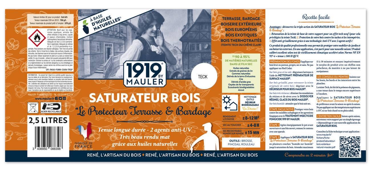 Saturateur bois extérieur terrasse & bardage 1919 BY MAULER