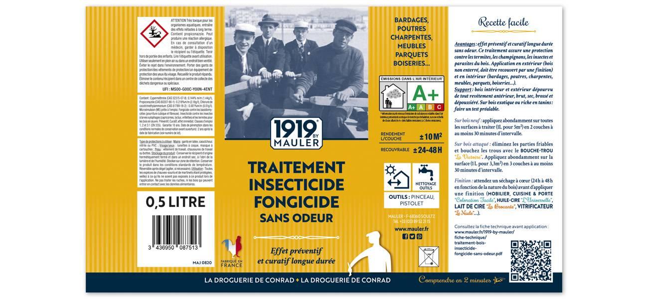 Traitement insecticide fongicide sans odeur 1919 BY MAULER