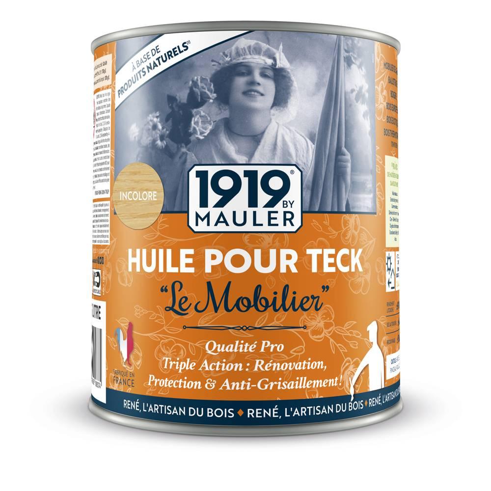 """Huile pour teck """"Le Mobilier"""" 1919 BY MAULER"""