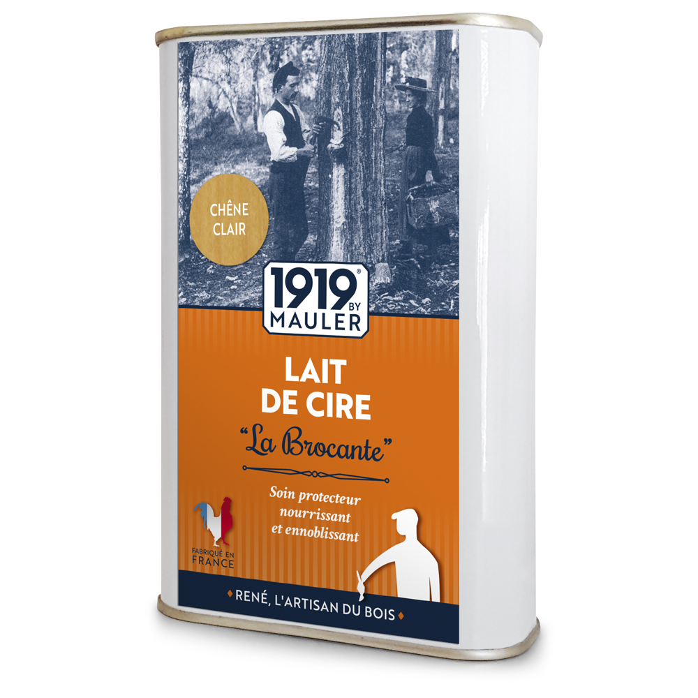 """Cire liquide bois chêne clair """"Lait de Cire"""" La Brocante 1919 BY MAULER"""