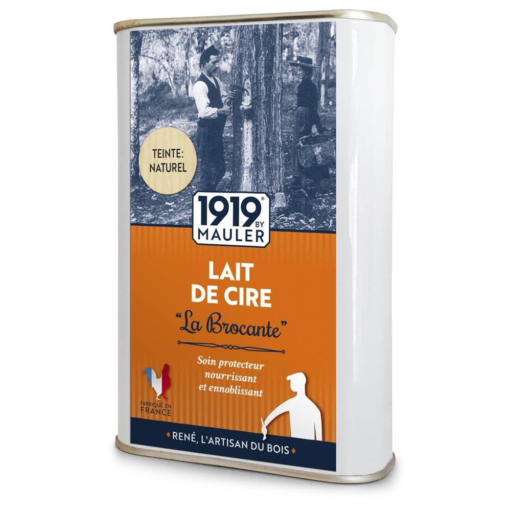 """Cire liquide bois """"Lait de Cire"""" La Brocante teinte : naturel 1919 BY MAULER"""