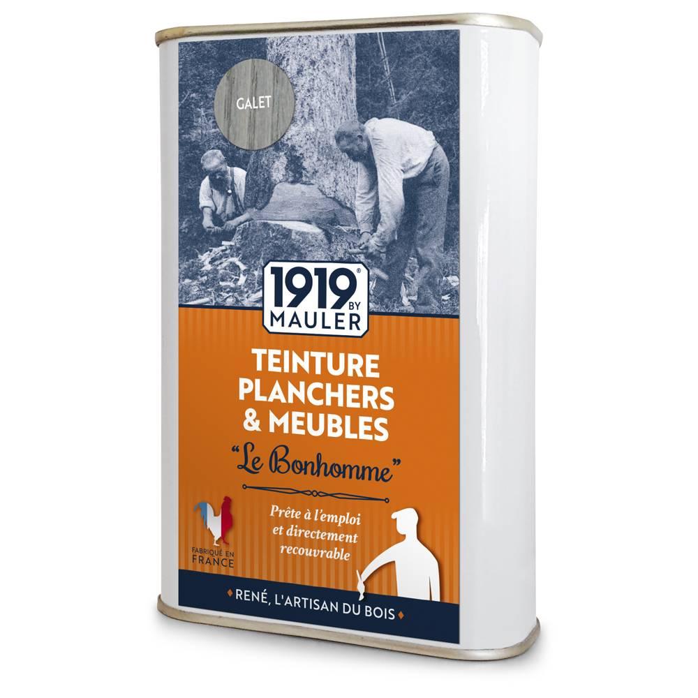 """Teinture plancher & meuble """"Le bonhomme"""" 1919 BY MAULER teinte gris galet"""