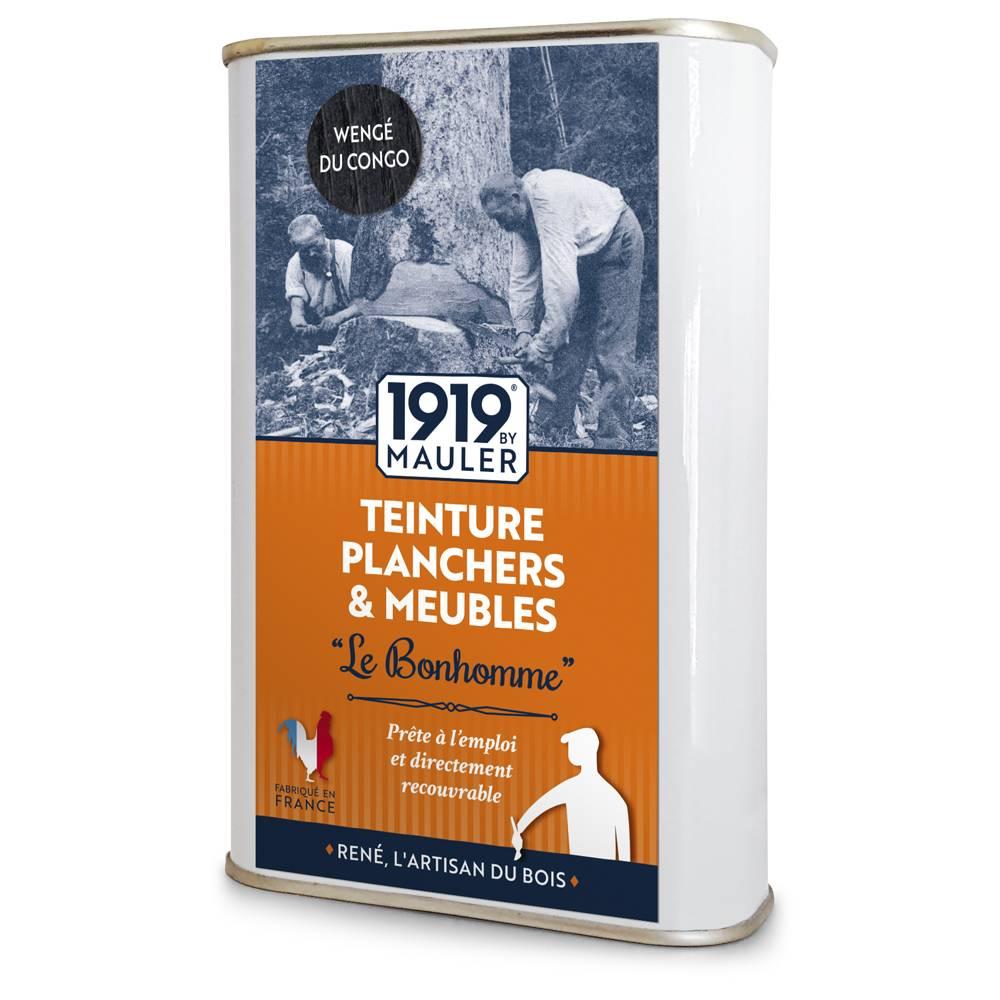 """Teinture bois noir wenge 0,5L """"Le Bonhomme"""" 1919 BY MAULER"""