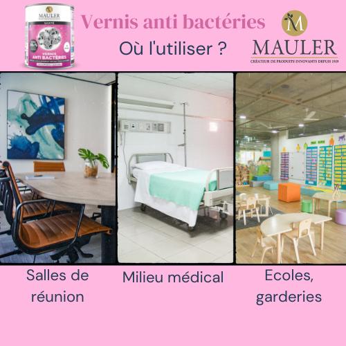 Vernis antibactéries MAULER Supports