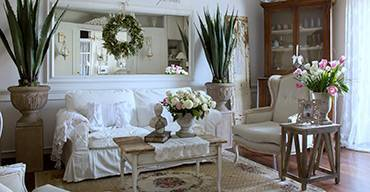 Ambiance shabby chic Le Terrier Blanc